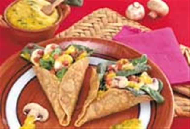 Spinach and mushroom tortilla cones recipe click to expand forumfinder Choice Image